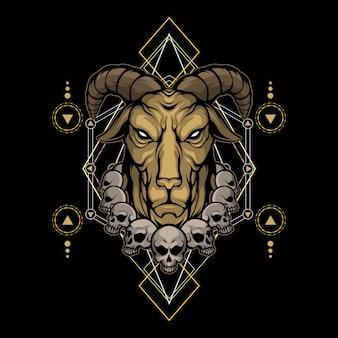 Diabo cabra geometria sagrada