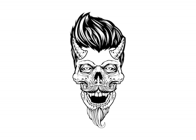 Diabo do crânio rockabilly