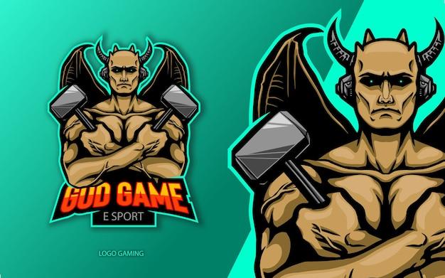 Diabo do logotipo da esport