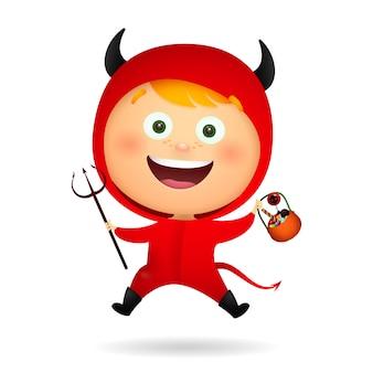 Diabo pequeno bonito alegre