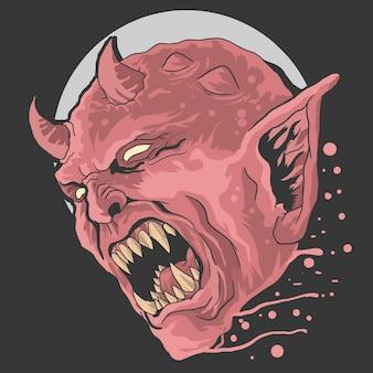 Diabo vermelho irritado
