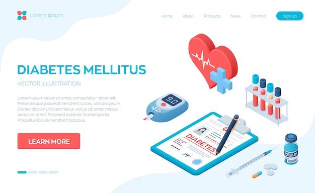 Diagnóstico médico - diabetes. diabetes mellitus tipo 2 e produção de insulina.