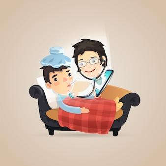Diagnóstico on-line de médicos