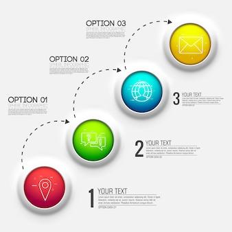 Diagrama de gráfico 3d para apresentação de negócios