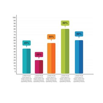 Diagrama de gráfico de gráfico de barras infográfico de negócios estatísticos