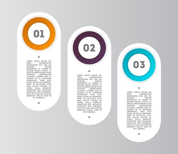 Diagrama de infográficos abstrata com etapas