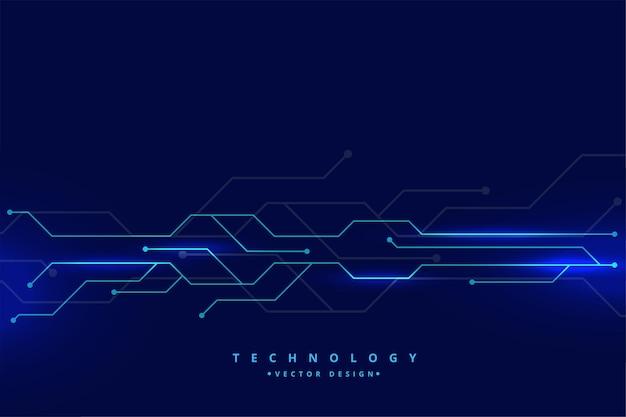 Diagrama de linhas de circuito de tecnologia digital
