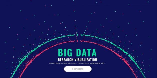 Diagrama de malha de partículas de dados grandes em forma circular
