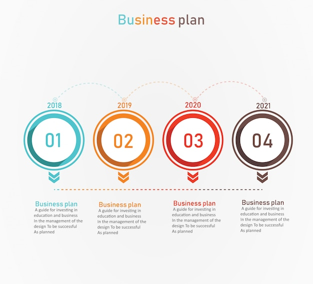 Diagrama de negócios e educação pela etapa 4 ilustração vetorial