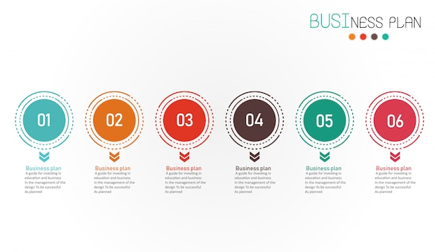 Diagrama de negócios e ilustração vetorial de educação
