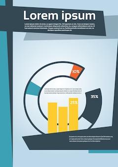 Diagrama de torta com porcentagem gráfico financeiro flyer