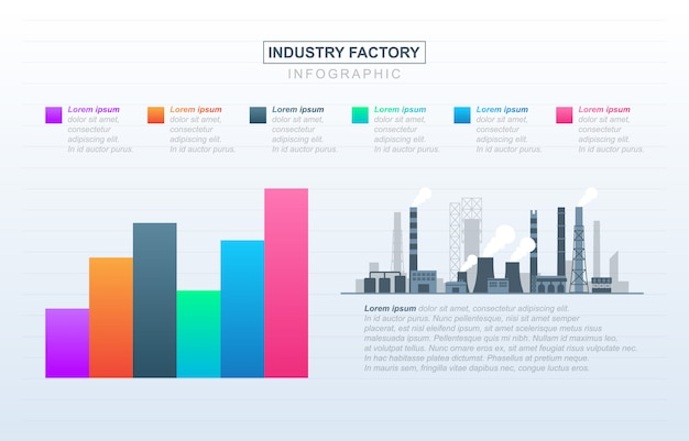Diagrama gráfico gráfico barras análise financeira fábrica estatística negócios industriais