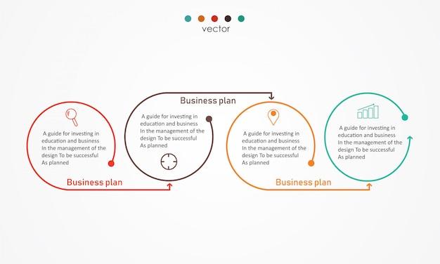 Diagrama negócios e educação vector illustration