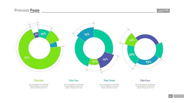 Diagramas com porcentagem de modelo de slide de dados