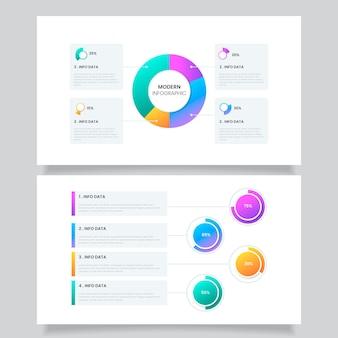 Diagramas de bola gradiente harvey - infográfico