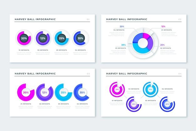 Diagramas de bola harvey realista - infográfico