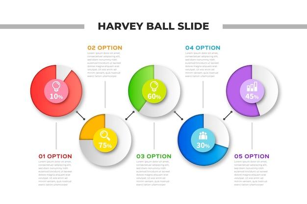Diagramas de bolas pesadas realistas