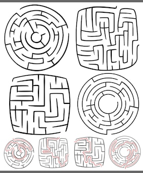 Diagramas de labirintos ou labirintos