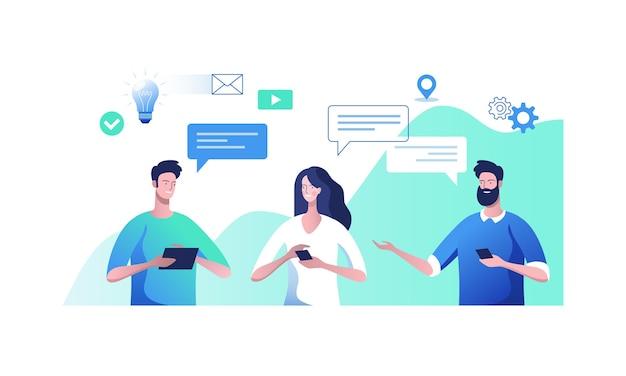 Diálogo de empresários