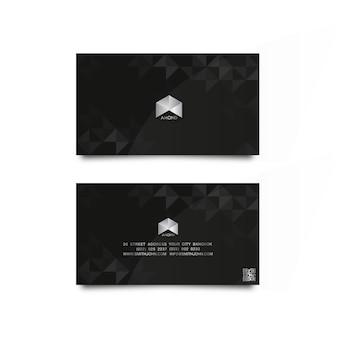 Diamante cartão de nome de luxo