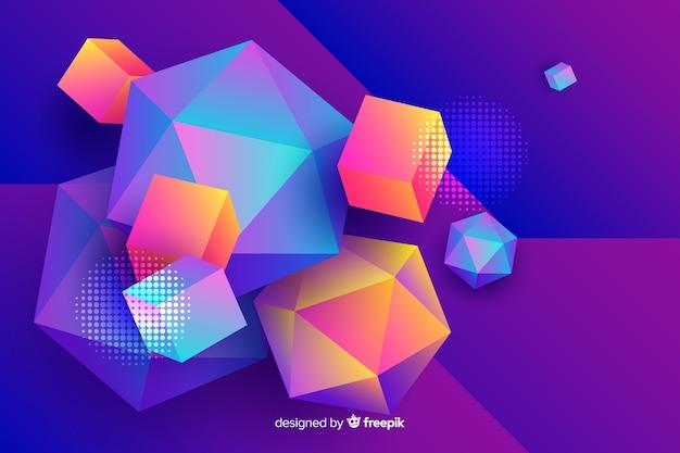 Diamante e fundo de formas quadradas