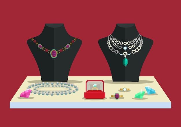 Diamantes de acessórios de conceito de luxo