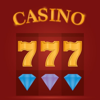 Diamantes jogo de cassino e sevens vector design gráfico ilustração