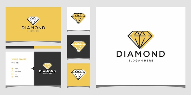Diamond logo design premium