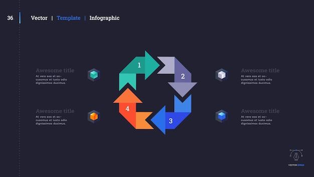 Diapositivo de apresentação de infográfico minimalista