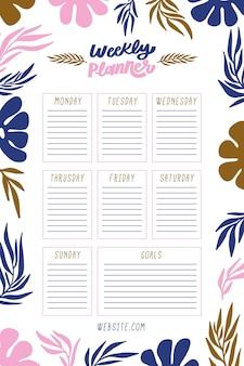 Diário de bala com plantas coloridas