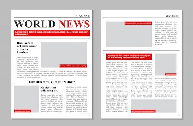Diário de jornal diário, notícias promocionais de negócios