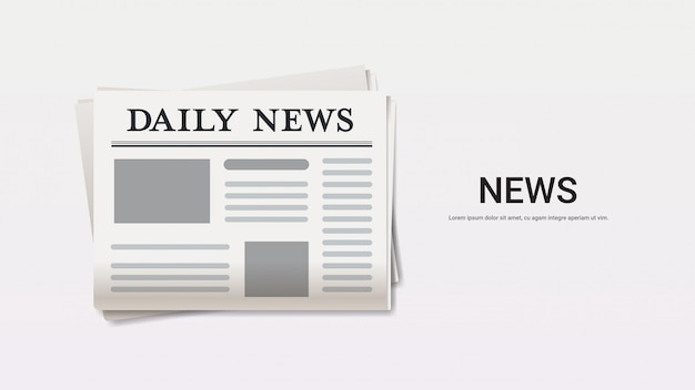 Diário notícias jornal manchete imprensa imprensa meios de comunicação conceito cópia espaço horizontal
