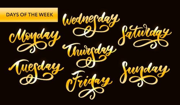 Dias da semana letras