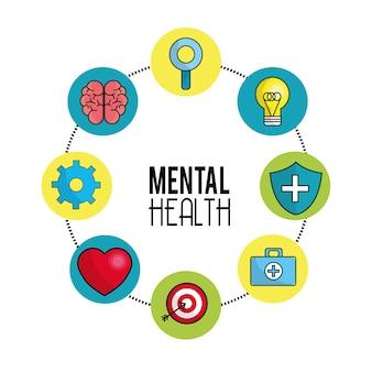 Dicas de símbolo de saúde mental