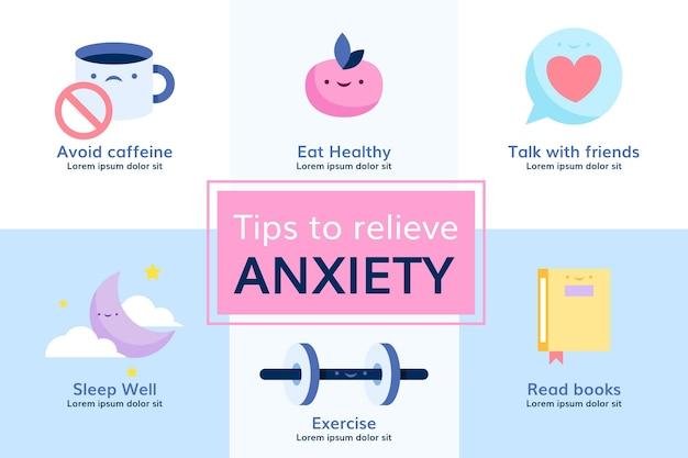 Dicas para design de infográfico de ansiedade