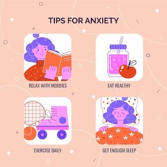 Dicas para infográfico de ansiedade