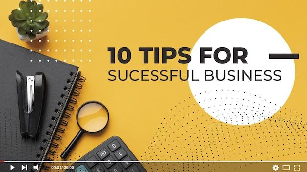 Dicas para negócios em miniatura do youtube