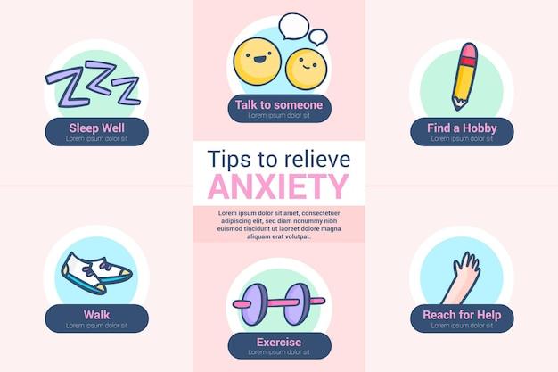 Dicas para o tema infográfico de ansiedade