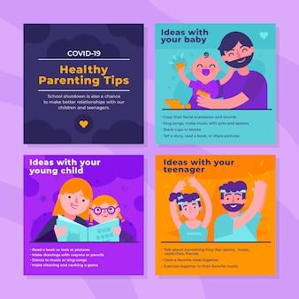 Dicas saudáveis para pais no instagram