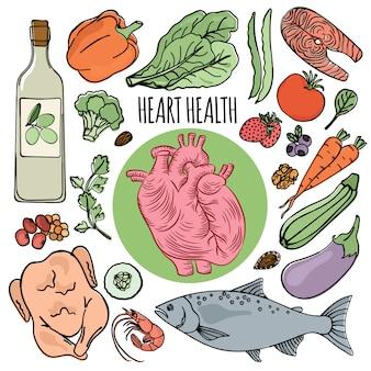 Dieta da saúde do coração nutrição humana
