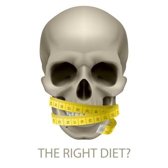 Dieta não saudável.