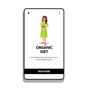 Dieta orgânica saudável nutrição comer mulher