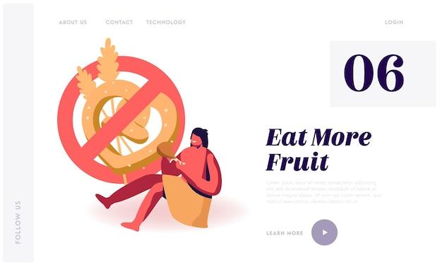 Dieta paleo, página de destino do site nutrição de pessoas antigas.