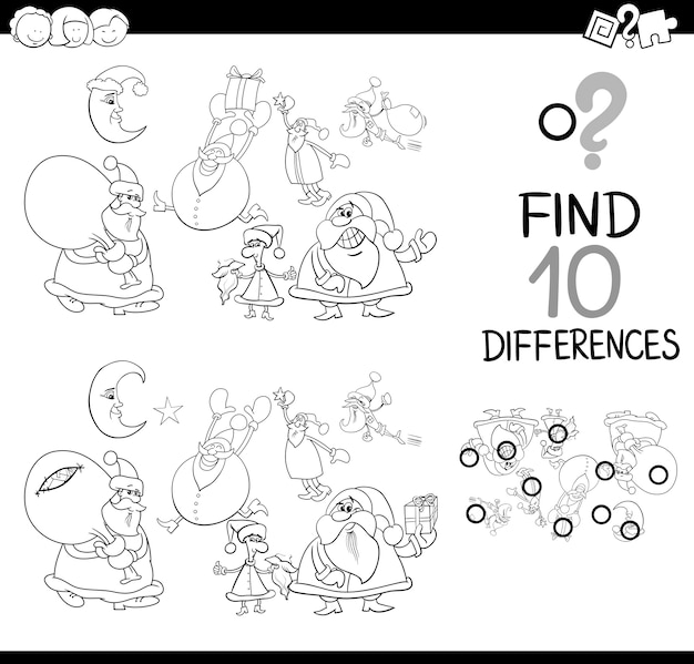 Diferença xmas para colorir