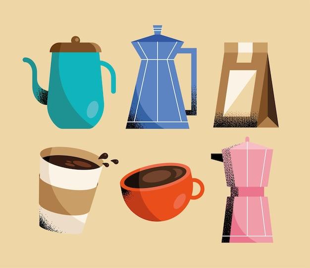 Diferentes apresentações de café