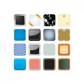 Diferentes botões coloridos embalar