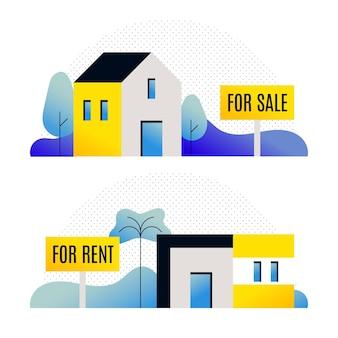Diferentes casas para venda ou aluguel