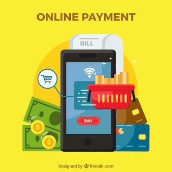 Diferentes elementos sobre o pagamento eletrônico