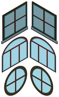 Diferentes formas de janelas