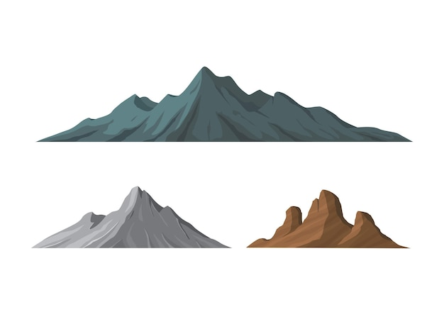 Diferentes formas de montanhas